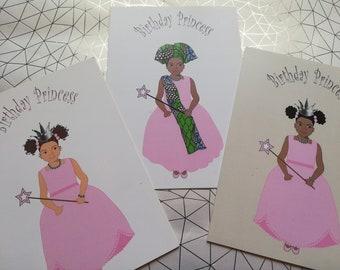 Princess greetings card