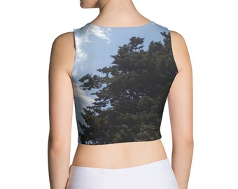 Sky and two trees - Sublimation Cut & Sew Crop Top