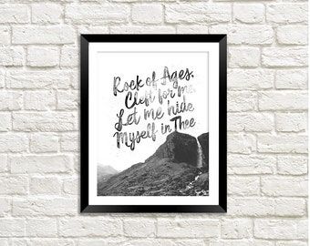 Rock of Ages Wall Art | Digital File