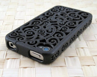 MADE TO ORDER (5-8 weeks) Designer iPhone 4S & 4 Victorian Filigree Swirl Puzzle Case (3D printed Nylon) - 5 color options