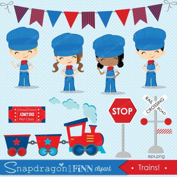 train clipart engineer clipart train conductor clipart rh etsy com Train Conductor Animated Train Conductor Cartoon