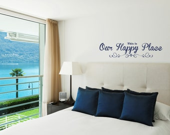 Our Happy Place Decal Family Wall Decal Sticker