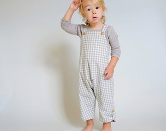 Toddler Overalls Boy Unisex Kids Harem Jumpsuit Overalls Loose Jumpsuits Loose Pants Jumpsuit Drop Crotch Jumpsuit Baby JonJon Boho Romper