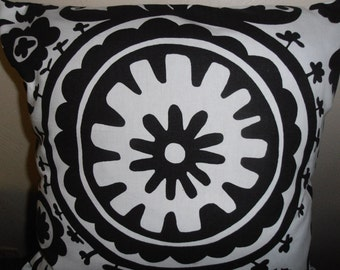 fabric premeir prints suzani white and black content 100 percent cotton  17 by 17