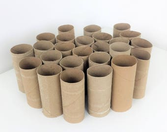 25 Recycled Uncrushed Cardboard Rolls from Toilet Paper