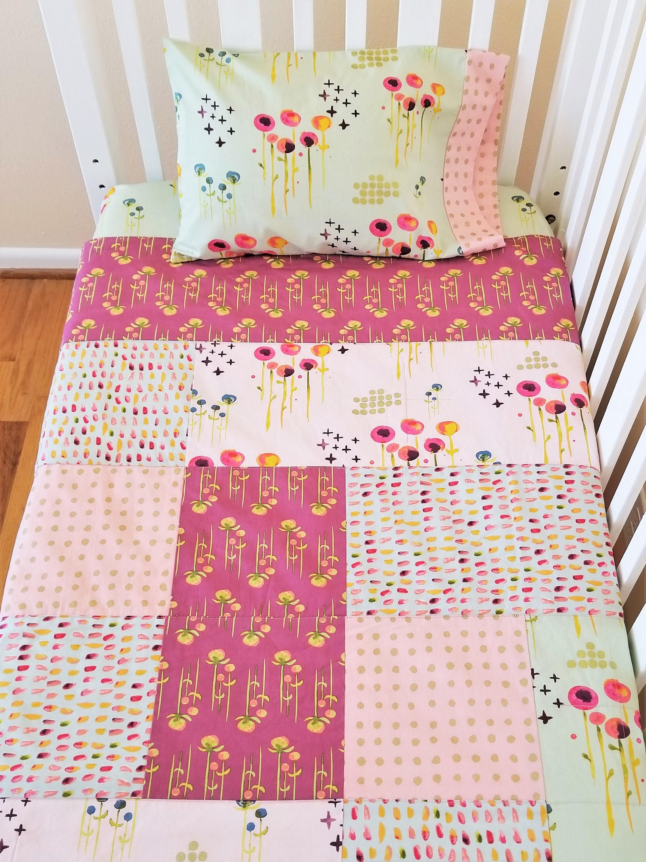 cribs bedding floral crib set carousel sheet pink large designs