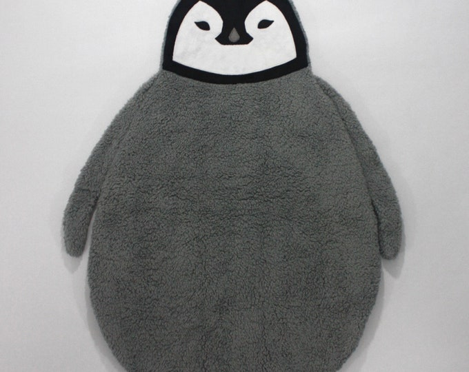 Baby Penguin baby blanket--Baby Penguin security blanket--Penguin security blanket