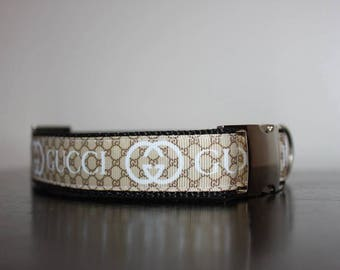 Designer Adjustable Dog Collar. Includes Silver Hardware! Dog Toy/Treat now Included!