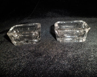 Pair of Old Glass Salts -The Longacre Flea
