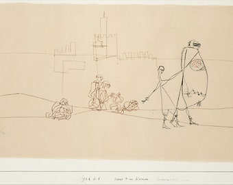 Paul Klee: Scene/Episode B at Kairouan. Fine Art Print/Poster (5003)