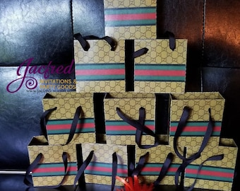 Gucci Inspired mini gift  bags ONLY