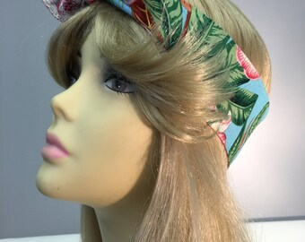 Hawaiian Floral Burst Pin Up Headband Headscarf