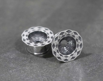 Dome Tunnels - Sterling Silver Plugs - Stretched Lobes - Gauged Body Jewelry - Body Piercing Jewelry