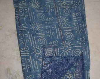Throw / Ralli / Bedspread / Quilt / Gudri Vintage Kantha  Reversible  Bedding India 2581