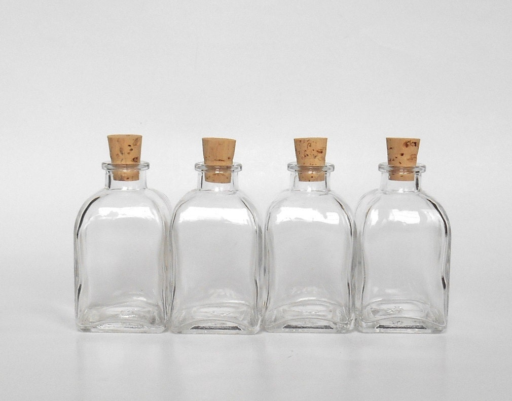 Small square clear glass bottles set 4 4 small glass zoom reviewsmspy