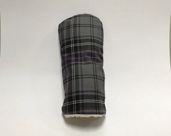 Purple and Grey Tartan Golf Club Cover