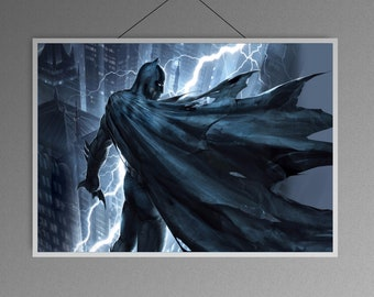Batman the dark knight of Gotham city justice league superheroes home  decor   poster