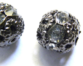 Rhinestone Bead, 8mm