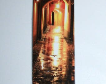 Laminated bookmarks: alley in the rain photo