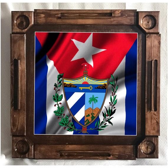 Wooden/wood Dominoes/domino Table/mesa Custom Made Cuba Flag