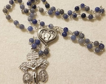 Lourdes Holy Water Rosary with Pardon Cross