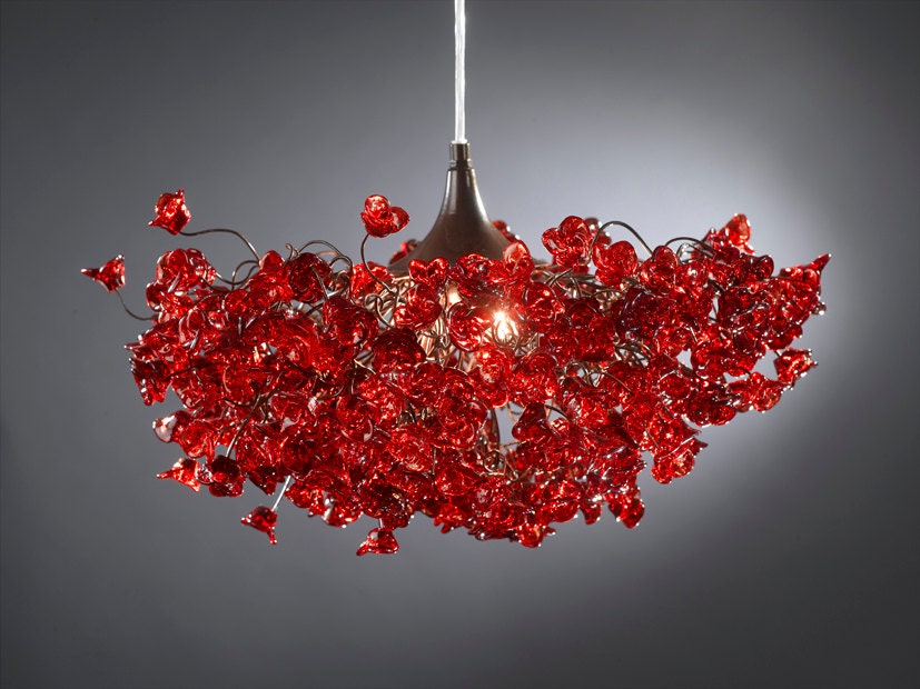 Red light fixture hanging light ceiling ligth with red zoom aloadofball Choice Image
