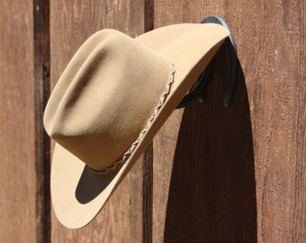 Cowboy Hat Rack, Horseshoe Hat Rack - Country Western Home Decor, Western Decor