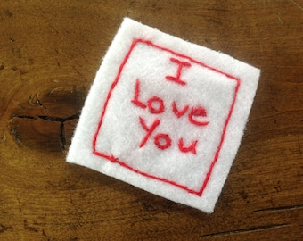 Felt Hand-Stitched Love Note