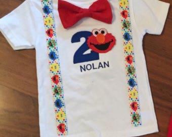 Elmo 2nd birthday, Elmo boy birthday outfit, Baby boy second birthday, Elmo party, Elmo smash cake, Elmo Outfit, Elmo boy