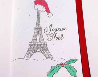 Joyeux Noël Paris France Christmas Card