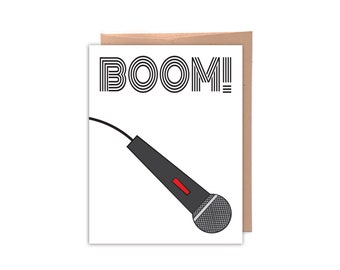 Boom! Drop the mic. Congratulations Card, Funny Greeting Card