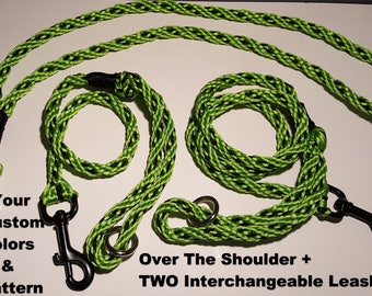 CUSTOM COLORS TWO Leash Over The Shoulder