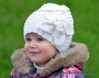 Knitting Pattern - Frozen Flower Hat (All sizes)