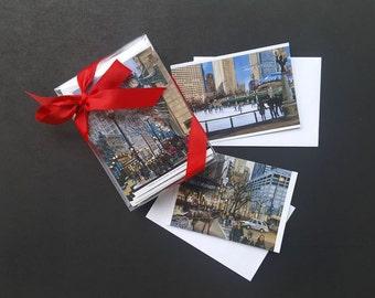 3 Design Chicago Christmas Cards - Box of 30