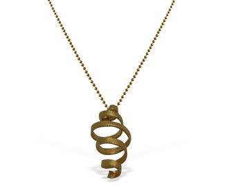 Elegant Spiral Gold Pendant, Pendant for layering,  Infinity Necklace, Gift Ideas for Her, for Mom, Minimal Infinity, Layering Necklace