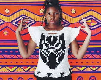 The Wakanda Forever Crochet Top Pattern. Instant download!
