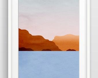 Abstract Seascape, Large Wall Art, Ocean Art, Beach Decor, Modern Art, Coastal Decor