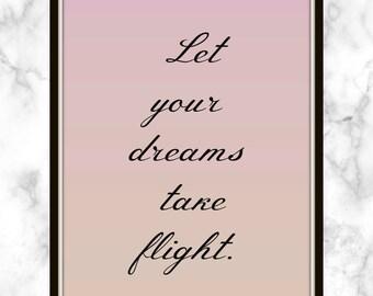 Let your dreams take flight. - Shawn Mendes - Lyrics - Print - Believe - Soundtrack - Descendants - Disney Soundtrack