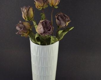 Vintage White Vase, Edelstein Bavaria Vase, Glossy White Vase, Vintage Porcelain Vase, Op-Art Porcelain Vase, West German Porcelain