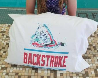 Swim Pillowcase Pillow Case BACKSTROKE