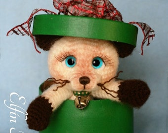 Elfin Thread - Siamese Kitty / Cat Amigurumi PDF Pattern (Crochet Siamese Kitty / Cat PDF)