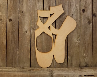 Ballet Pointe Shoes Slippers- laser cut wood sign decor wall hanging gift