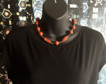 Red Jasper and Silver