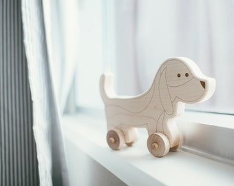 Dog Toy - Baby Shower - Baby Shower Gift - Montessori Toys - Wooden Toys