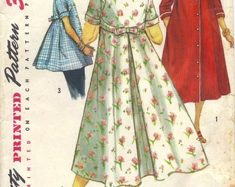 1950s Simplicity 1814 Misses' Housecoat, Robe, Smock, Size 12, Bust 32