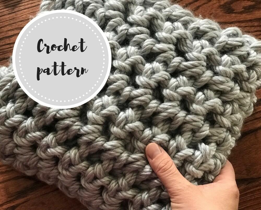 Finger crochet blanket PDF pattern