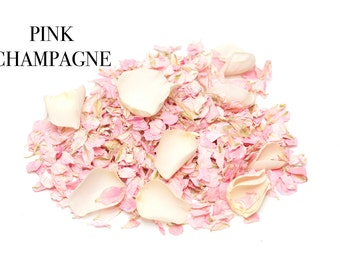 Freeze dried Natural wedding confetti petals, 1 litre, 100% Biodegradable (Pink Champagne)