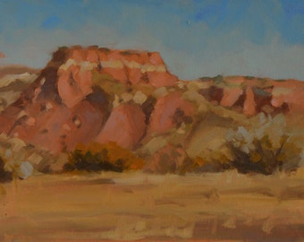 New Mexico - Red Rocks - Landscape - Ghost Ranch - Mesa - Georgia O'Keefe - Plein Air - Oil Painting - Southwest - Impressionism - Western