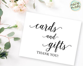 Cards and Gifts Sign, Wedding Cards and Gifts Sign, Cards and Gifts Sign Printable, Gift Table Sign, Wedding Signs, Wedding Printable, W101