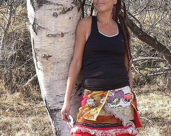 kawaii colorful summer patcwhork skirt